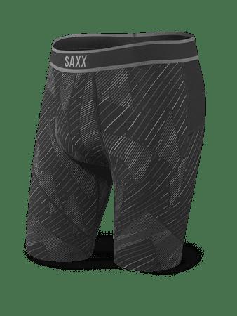 SAXX moške dolge boksarice Kinetic Long Leg, Black Shattered, L