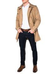 BUĎCHLAP Atraktívny béžový pánsky kabát c346