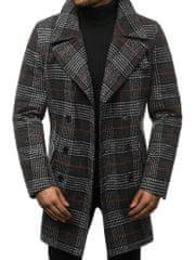 BUĎCHLAP Kockovaný šedý pánsky kabát JB/JP1116Z