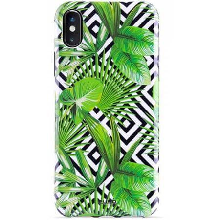 Puro Glam ovitek za iPhone X/XS, Tropical leaves