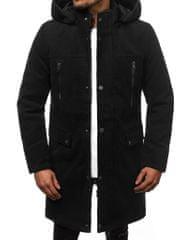 BUĎCHLAP Zaujímavý čierny pánsky kabát O/88873Z
