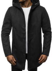 BUĎCHLAP Štýlový čierny pánsky kabát N/5921Z