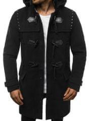 BUĎCHLAP Originálny čierny pánsky kabát O/88870Z