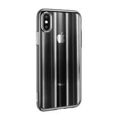 BASEUS Aurora Series stínovaný ochranný kryt pro Apple iPhone X/XS, čirý - černý, WIAPIPHX-JG01