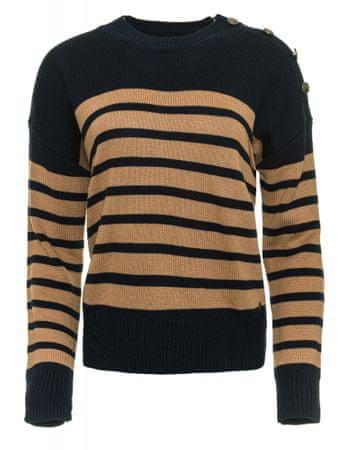 Pepe Jeans ženski pulover Bretona, smeđi, XS