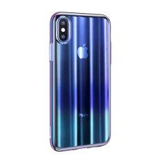 BASEUS Aurora Series stínovaný ochranný kryt pro Apple iPhone X/XS, čirý - modrý, WIAPIPHX-JG03