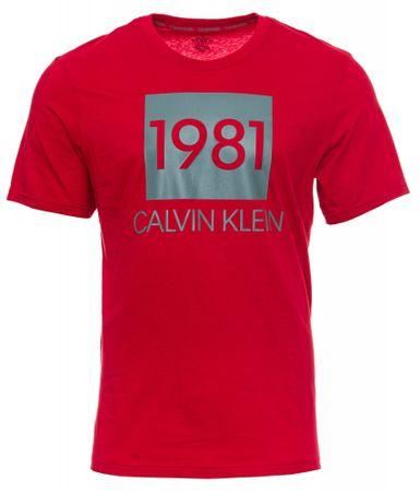 Calvin Klein moška majica S/S CREW NECK, S, rdeča