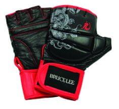 Bruce Lee rokavice za boks in MMA, črno rdeče, M