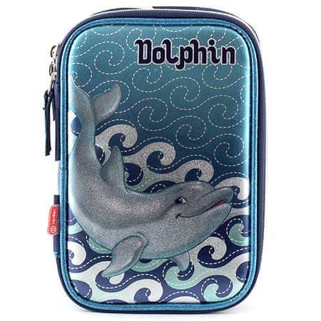 Target Piórnik szkolny z wypełnieniem Dolphin, niebieski