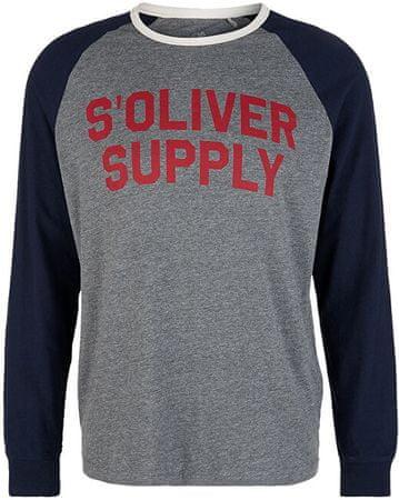 s.Oliver Férfi póló póló rövidnadrág Grey keverék 13.910.31.7209 .9730 (méret XXL)