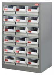 Shuter Kovový organizér dílenský s 18 zásuvkami pro náročné použití - HD-318 | Shuter