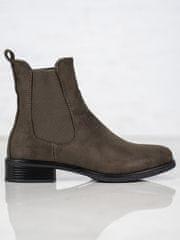 Trendy kotníčkové boty dámské zelené na plochém podpatku