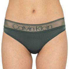 Calvin Klein Dámské kalhotky khaki (QD3698E-AMH)