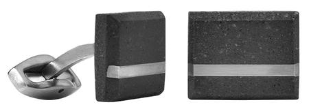 Gravelli Manžetové gombíky z betónu a ocele Falcon Steel GJCMSSA004UN
