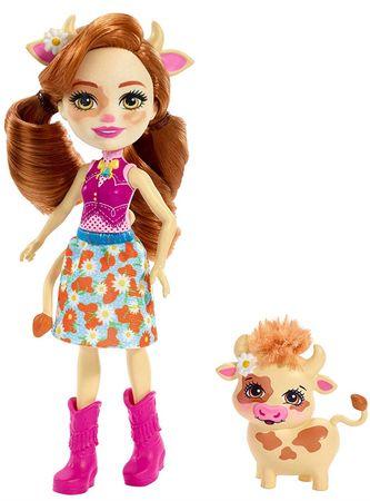 Mattel Enchantimals játékbaba és Cailey Cow és Curdle állatkák