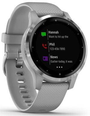 Chytré hodinky Garmin vivoactive 4S, tep, okysličenie krvi, metabolizmus, kalórie, vzdialenosti, multi šport, pitný režim, dych, stres, energie, kondície, VO2 max, menštruačný cyklus