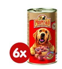 Propesko mokra karma dla psów - drób, dziczyzna- 6 x 1240 g