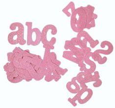 Tradag Abeceda růžová - dekoračné písmená