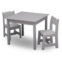 Delta Children dřevěný stůl se dvěma židlemi