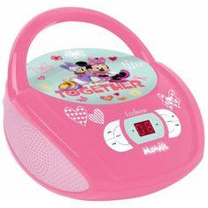 Lexibook dětský cd přehrávač Minnie a kačer Donald - růžový
