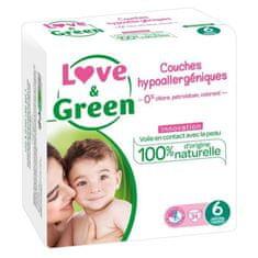Love & Green dětské hypoalergení plenky - 40 kusů