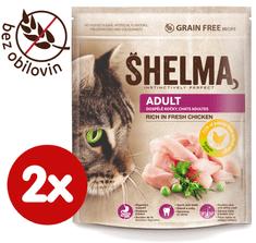 SHELMA Granule Freshmeat Adult kuracie 2*750g