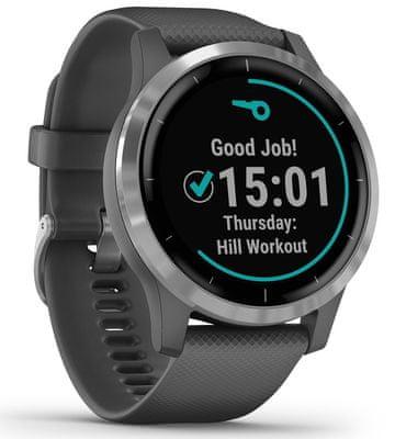 Chytré hodinky Garmin vivoactive 4, tep, okysličenie krvi, metabolizmus, kalórie, vzdialenosti, multi šport, pitný režim, dych, stres, energie, kondície, VO2 max, menštruačný cyklus