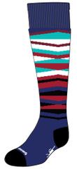 SMARTWOOL detské ponožky K WINTERSPORT STRIPE alpine blue