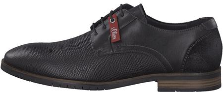 s.Oliver Férfi cipő Black dombornyomott 5-5-13205-23 -008 (méret 41)