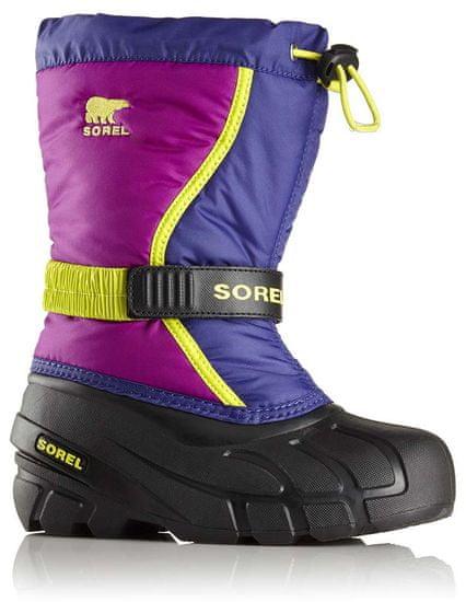 Sorel dívčí sněhule Youth Flurry Grape Juice/Bright 36 vícebarevná