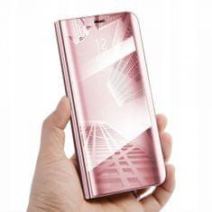 Onasi Clear View preklopna torbica za Samsung Galaxy Note 10 N970, ružičasta