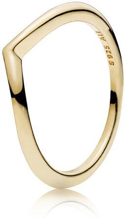 Pandora Minimalistický bronzový prsten 166314 (Obvod 50 mm) stříbro 925/1000