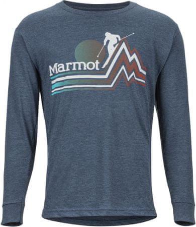 Marmot Piste Tee LS moška majica Navy Heather, M