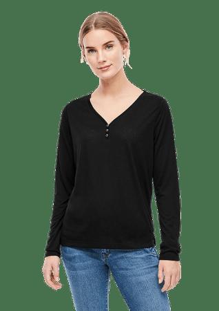 s.Oliver női póló 14.910.31.6915 34 fekete