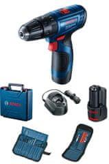 BOSCH Professional Akumulatorski bušilica-odvijač GSB 120-LI, 2 akumulatora + dodatci (0.601.9G8.102)