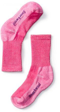 SMARTWOOL detské ponožky K HIKE LIGHT CREW potion pink M