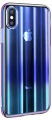 BASEUS Aurora Series stínovaný ochranný kryt pro Apple iPhone X/XS, čirý - modrý, WIAPIPH58-JG03