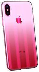 BASEUS Aurora Series stínovaný ochranný kryt pro Apple iPhone X/XS, čirý - růžový, WIAPIPH58-JG04