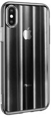 BASEUS Aurora Series stínovaný ochranný kryt pro Apple iPhone XS Max, čirý - černý, WIAPIPH65-JG01