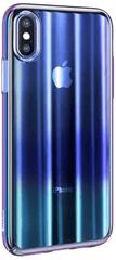 BASEUS Aurora Series zaštitna maska za Apple iPhone XS Max, prozirna/plava WIAPIPH65-JG03