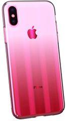 BASEUS Aurora Series stínovaný ochranný kryt pro Apple iPhone XS Max, čirý - růžový, WIAPIPH65-JG04