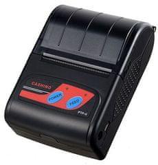 Cashino PTP-II BT24 / USB DUAL BT mobilná termálna tlačiareň pre systémy iOS, Android a Windows