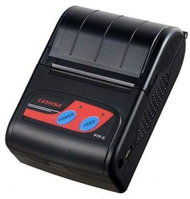 Cashino PTP-II BT24/USB DUAL BT mobilní termální tiskárna pro systémy iOS, Android a Windows