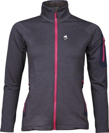 High Point Woolion Merino Lady Sweatshirt Antracit/Cerise Zip S