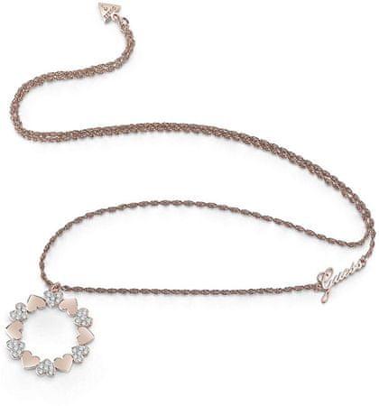 Guess Dolga ogrlica z obeskom za srce UBN85049