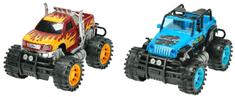 Mikro hračky Auto 2 ks monster + buggy 25 cm na zotrvačník