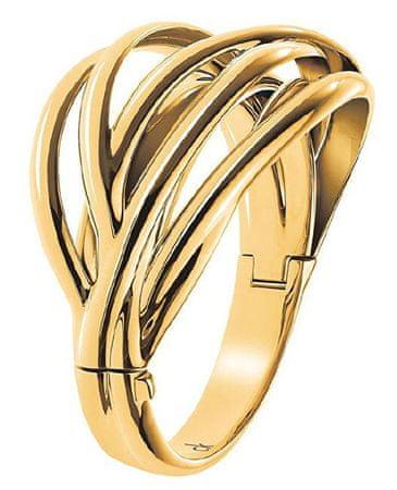 Calvin Klein Pozlačena masivna zapestnica Crisp KJ1RJD1001 (Premer 6 cm)