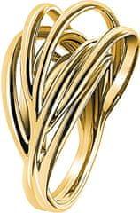 Calvin Klein Pozlačen prstan Crisp KJ1RJR1001
