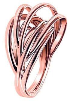 Calvin Klein Prstan z rožnato pozlato Crisp KJ1RPR1001 (Obseg 50 mm)