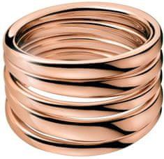 Calvin Klein Masivni prstan z rožnato pozlato Sumptuous KJ2GPR1001